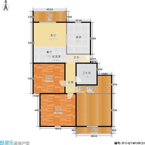 采荷人家3室0厅2卫1厨137.00㎡户型图