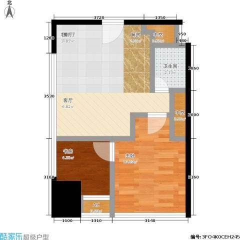 艾肯金座2室1厅1卫0厨58.00㎡户型图