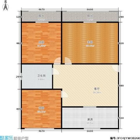 采荷人家3室1厅1卫1厨153.00㎡户型图