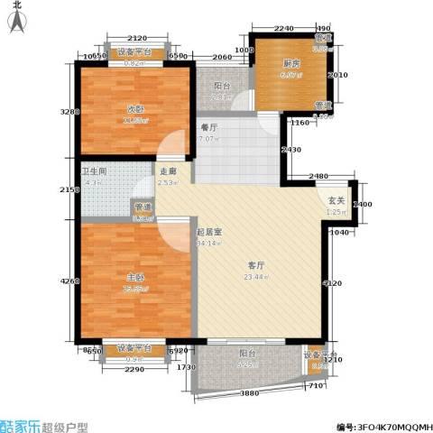 维多利华庭2室0厅1卫1厨95.00㎡户型图