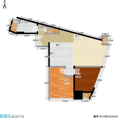 艾肯金座2室1厅1卫0厨98.00㎡户型图