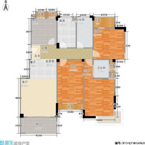 橘郡3室0厅2卫1厨136.00㎡户型图