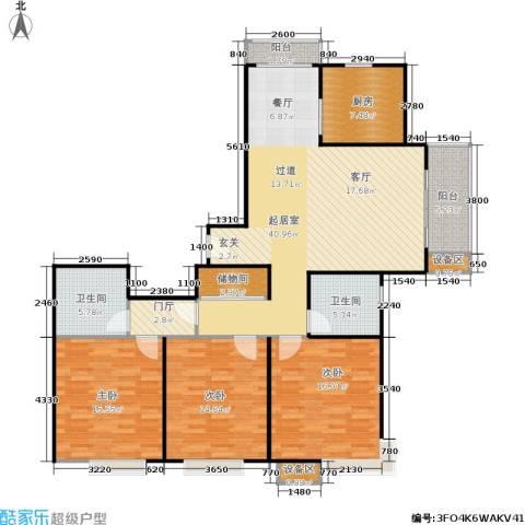 上海源花城3室0厅2卫1厨161.00㎡户型图