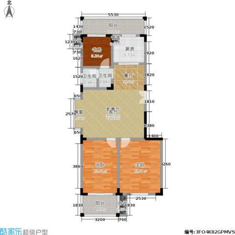 东南雅苑3室1厅1卫1厨126.00㎡户型图
