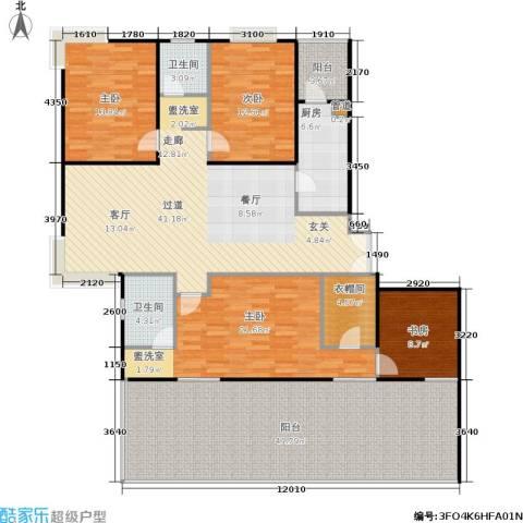 静安风华苑4室0厅2卫1厨162.25㎡户型图