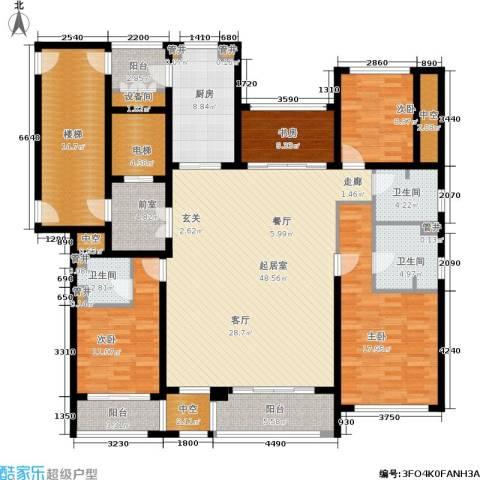 绿地华家池1号4室0厅3卫1厨180.00㎡户型图