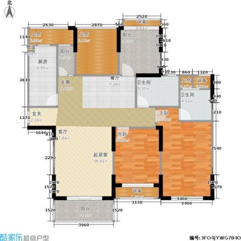 橘郡2室0厅2卫1厨126.00㎡户型图