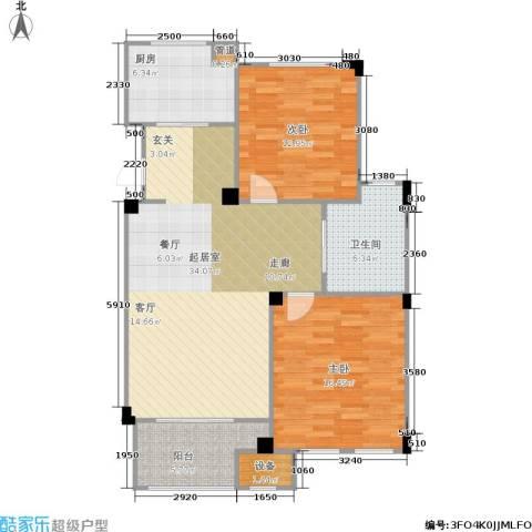 绿城乌镇雅园2室0厅1卫1厨90.00㎡户型图