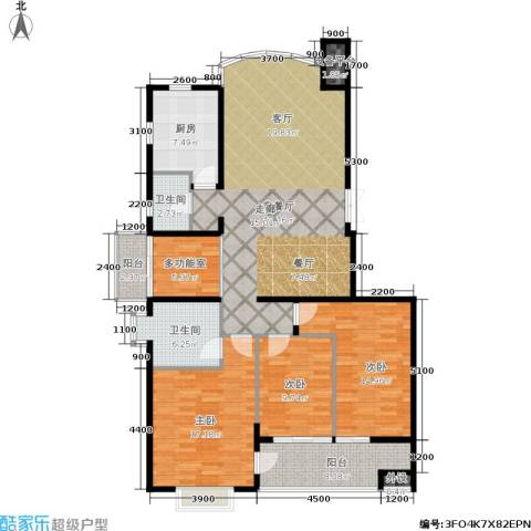 向阳门第3室1厅2卫1厨145.00㎡户型图