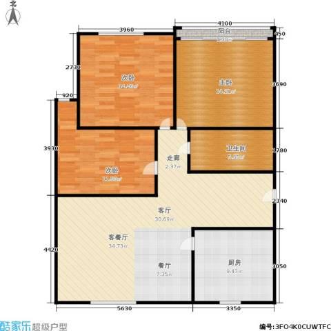三里新城3室1厅1卫1厨98.00㎡户型图
