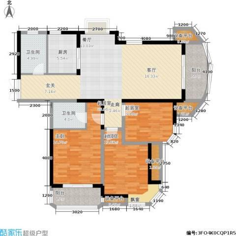 东方丽都花苑1室0厅2卫1厨133.00㎡户型图