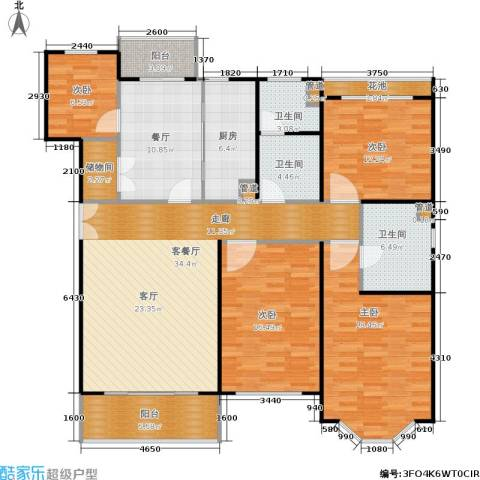 众众家园4室2厅3卫1厨181.00㎡户型图