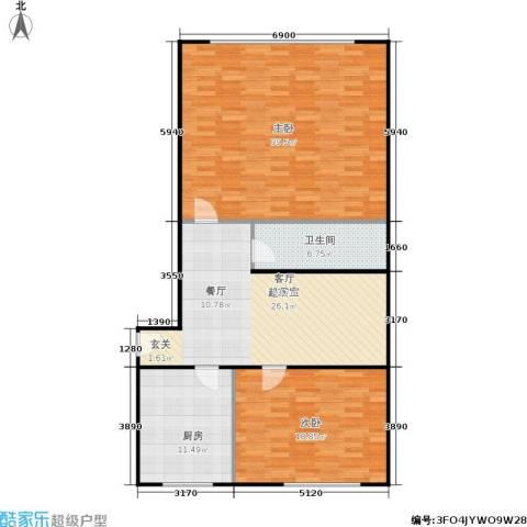 采荷人家2室0厅1卫1厨108.00㎡户型图