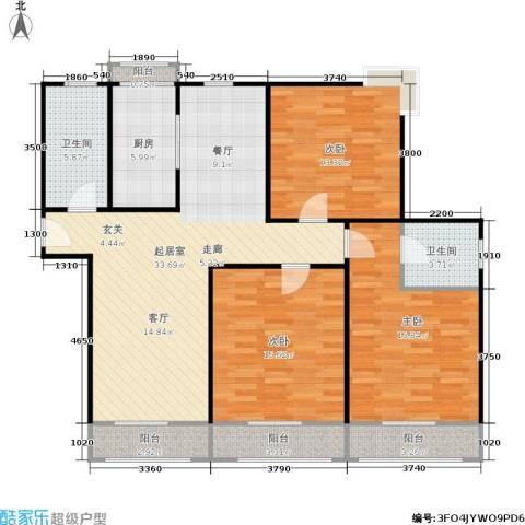 采荷人家3室0厅2卫1厨115.00㎡户型图
