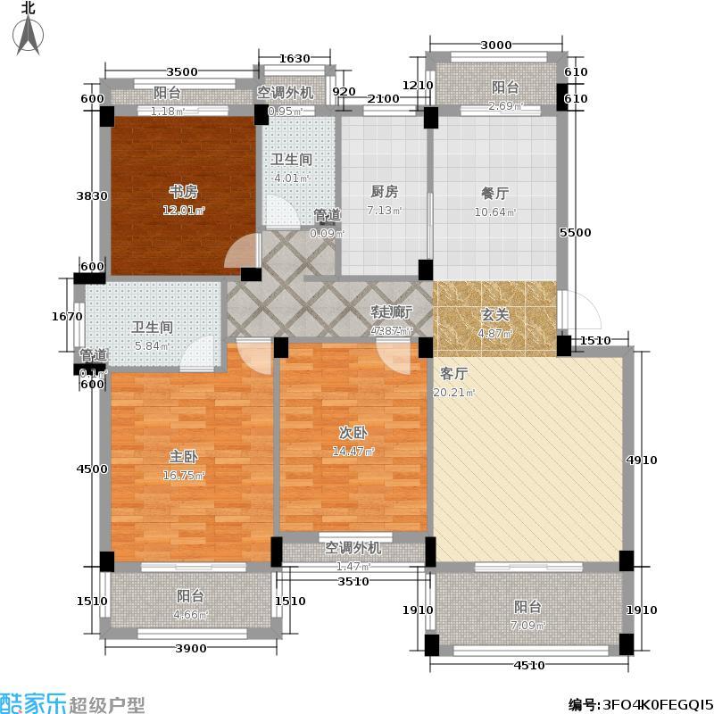 恒逸金榈湾134.00㎡公寓D7户型