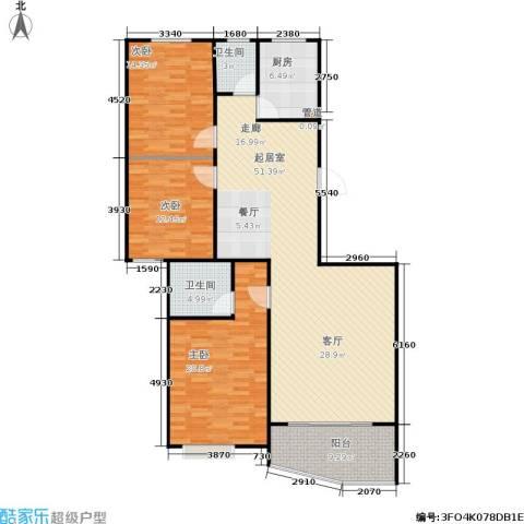 雄海花园3室0厅2卫1厨122.86㎡户型图