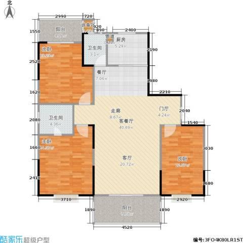 鑫天山城明珠3室1厅2卫1厨144.00㎡户型图