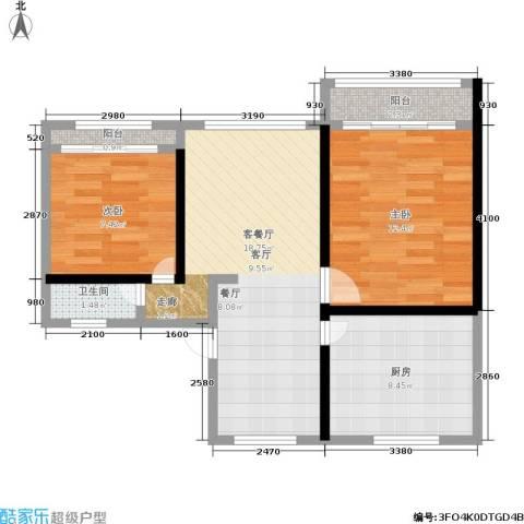 五福新村2室1厅1卫1厨60.00㎡户型图