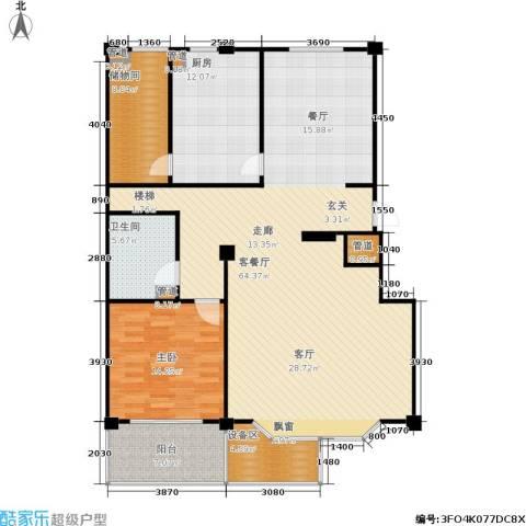 丽水花园1室1厅1卫1厨255.00㎡户型图