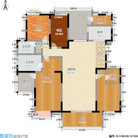 金地曲江尚林苑5室0厅3卫1厨228.00㎡户型图