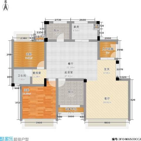 金地三千府2室0厅1卫1厨116.00㎡户型图