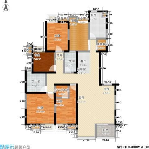 中海华庭4室0厅2卫1厨169.00㎡户型图