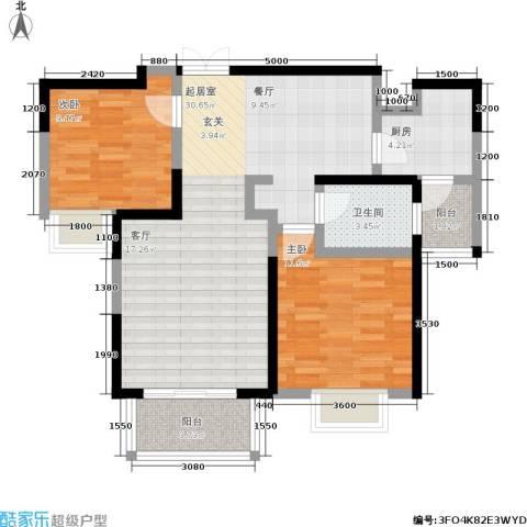 丰景佳园2室0厅1卫1厨106.00㎡户型图
