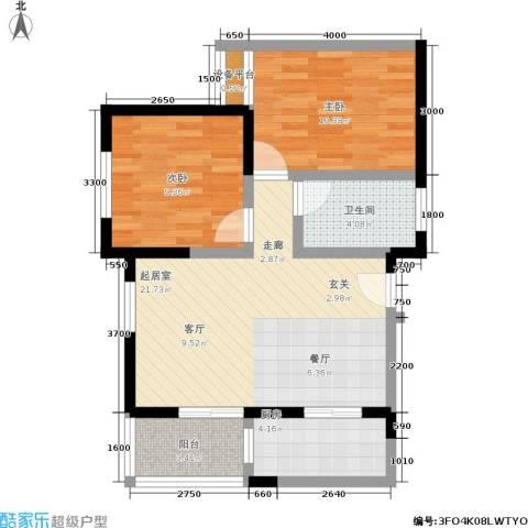 美丽的院子2室0厅1卫1厨79.00㎡户型图