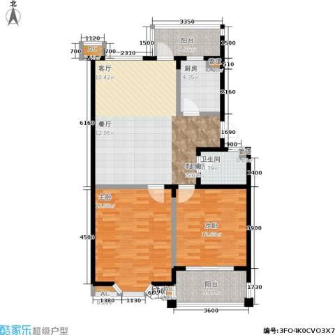 星星港湾文斓苑2室1厅1卫1厨108.00㎡户型图