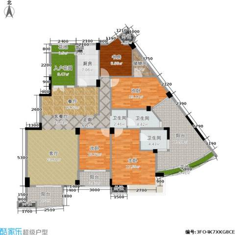 西山汇景4室1厅2卫1厨162.00㎡户型图