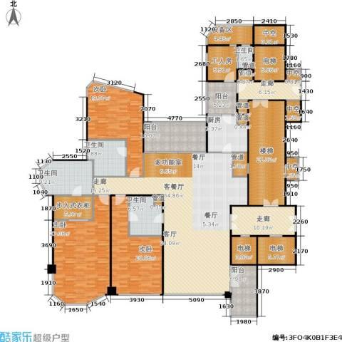 东方润园3室1厅4卫1厨285.33㎡户型图