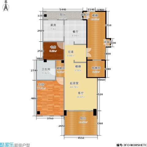 紫园2室0厅1卫1厨152.00㎡户型图