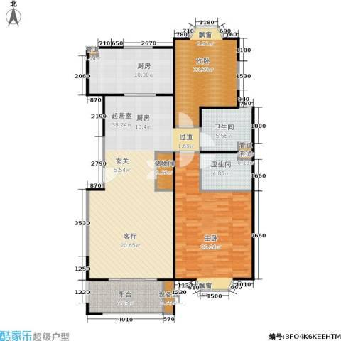 公园养生豪庭2室0厅2卫1厨140.00㎡户型图