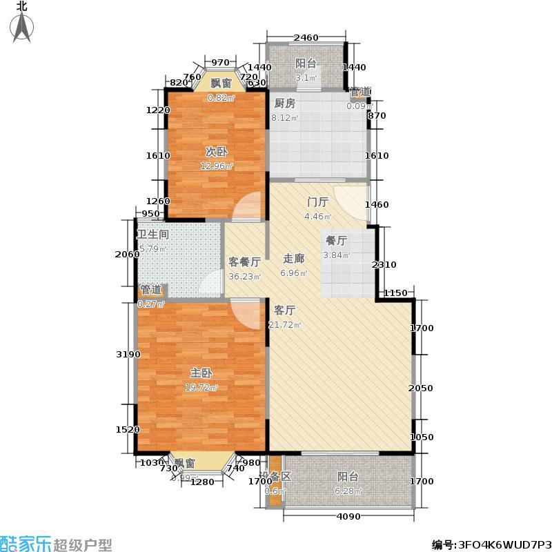 公园养生豪庭96.70㎡多层 二室二厅一卫96.7-98.69平方米户型