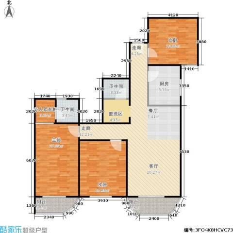 亚运豪庭3室1厅2卫1厨137.00㎡户型图