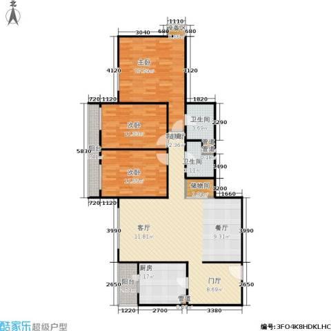 慧谷时空3室1厅2卫1厨142.00㎡户型图
