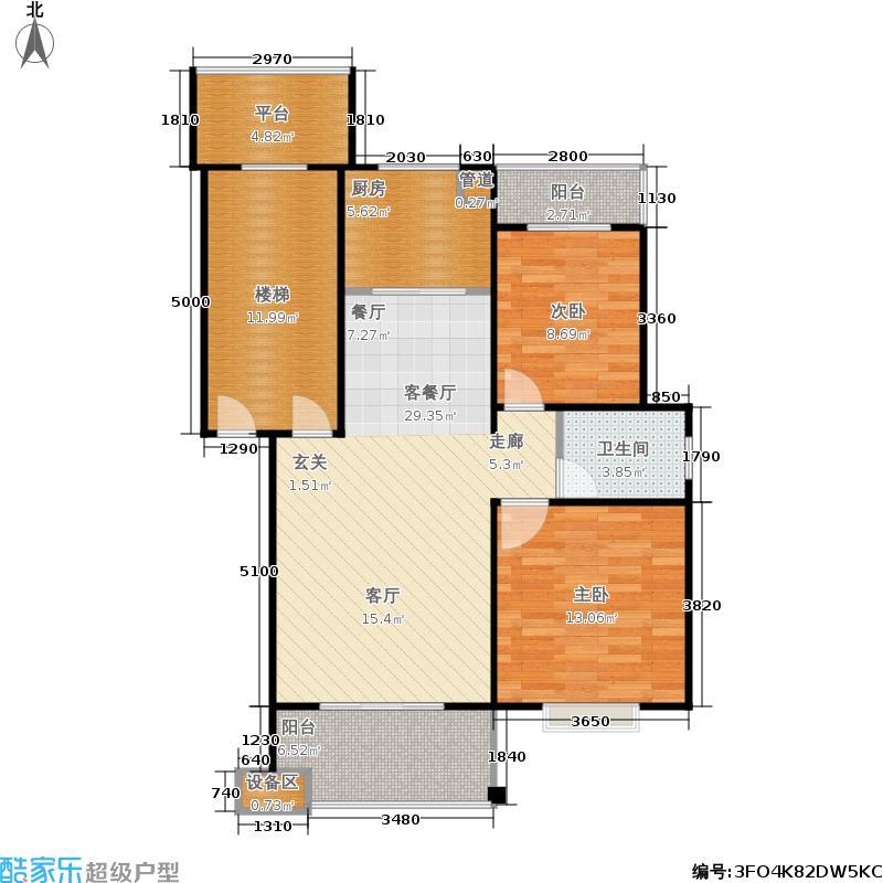 德润园户型2室1厅1卫1厨
