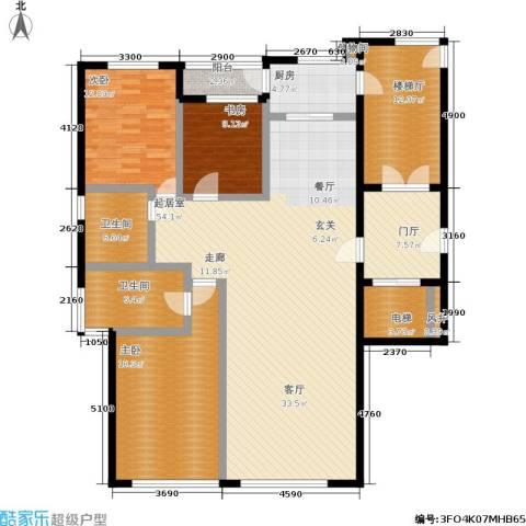 五四华庭3室0厅2卫1厨135.03㎡户型图