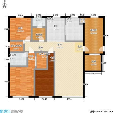 五四华庭3室0厅2卫1厨143.47㎡户型图