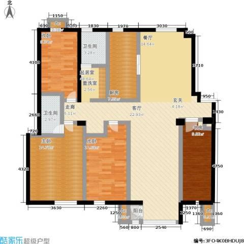 颐和香榭4室0厅2卫1厨147.00㎡户型图