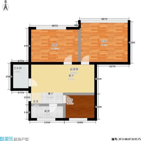 孩儿巷3室0厅1卫1厨77.00㎡户型图