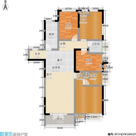 保利香槟国际3室0厅2卫1厨135.00㎡户型图