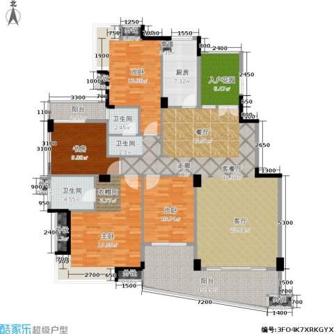 西山汇景4室1厅2卫1厨165.00㎡户型图