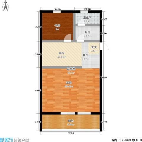 景芳五区1室0厅1卫1厨76.00㎡户型图