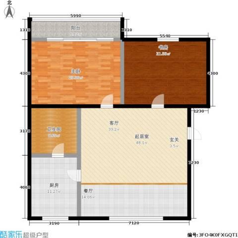 孩儿巷2室0厅1卫1厨132.00㎡户型图