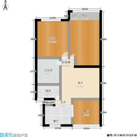 孩儿巷2室0厅1卫1厨72.00㎡户型图