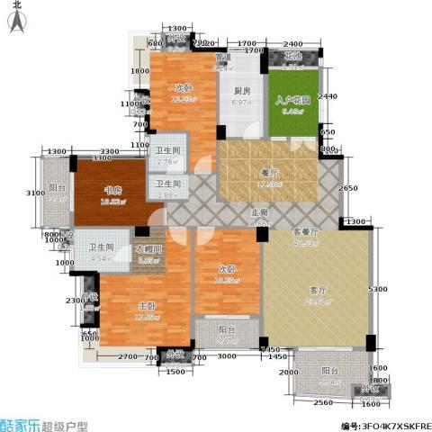 西山汇景4室1厅2卫1厨159.00㎡户型图