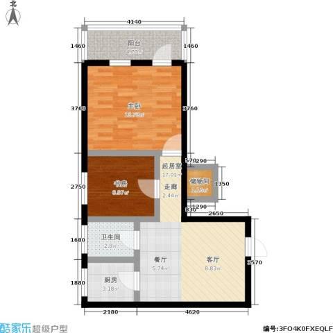 孩儿巷2室0厅1卫1厨59.00㎡户型图