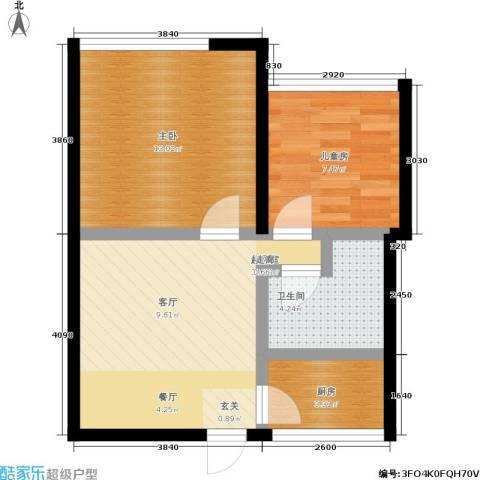 景芳五区2室0厅1卫1厨50.00㎡户型图