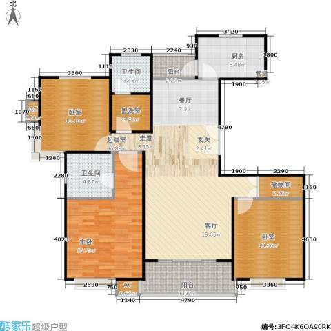 明城玫瑰园1室0厅2卫1厨120.00㎡户型图